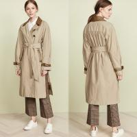 Wholesale Fall Clothing Womans Wrap Dress Coat For Women with Slit from china suppliers