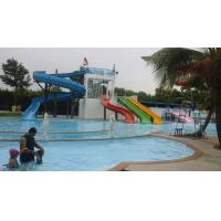 Quality 500 SQM Custom Straight Fiberglass Kids Water Slides For Swimming Pools in Outdoor for sale