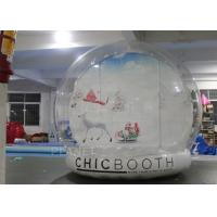 Fire Proof Inflatable Human Size Snow Globe For Party , Event Decoration