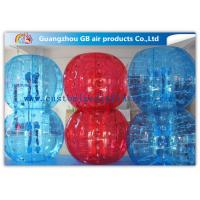 China Red And Blue Inflatable Human Bumper Ball Bubble Football Suits LOGO Acceptable on sale