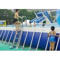 Wholesale Hotsale 0.9MM PVC Outdoor Giant Above Ground Rectangle Water Park Type Metal Frame Swimming Pool For Sale from china suppliers