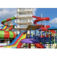 Wholesale Theme Park Fiberglass Water Slide Customized Closed Tube Spiral FRP For Adult from china suppliers