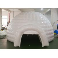 China White Inflatable Igloo Tent Outside Diameter 4.8 Meter CE Certificated on sale