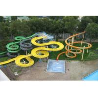 Wholesale Commercial Outdoor Childrens 12m Fiberglass Water Slides Kit , Anti - UV from china suppliers