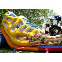 China Multicolored Inflatable Amusement Park Football Combo Playground With LED Scoreboard on sale