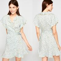 Wholesale Ladies Mini Dress Floral Wrap Dresses Cotton For woman from china suppliers