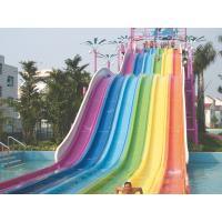 Wholesale Fiberglass Race Slide , Custom Spiral Water Slides Side By Side Multi Lane from china suppliers
