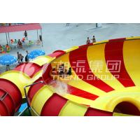 China Adult Long Big Water Slides For Amusement Park / Space Bowl Water Slides 180riders/H Capacity on sale
