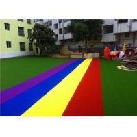 Wholesale Non Infill Needed Safe Artificial Grass , Artificial Grass Play Area For Kids from china suppliers