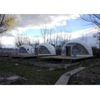 China PVDF Or PTFE Geodesic Camping Tent Outdoor Strong Structure Half Sphere on sale