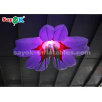 Wholesale Colorful 1.5m Inflatable Lighting Decoration / Blow Up Hanging LED Flower from china suppliers