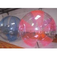 China 1.0mm PVC / TPU Inflatable Water Walking Ball UV Resistant For Kids Playing on sale