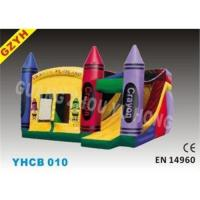 Buy cheap 0.55mm PVC Tarpaulin Inflatable Combo Bouncers Slide YHCB-010 with Jumping House from wholesalers