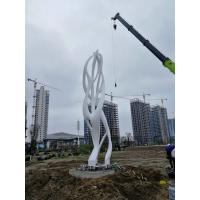 Quality Welded Stainless Steel Sculpture Exterior Decoration Huge Circle Shape Design for sale