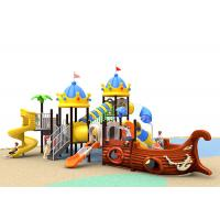 Funny School Childrens Plastic Playground Customized Size Outdoor Play Slide