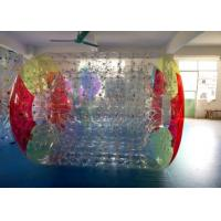 Wholesale 0.7 mm TPU Inflatable Water Roller Zorb Ball , Inflatable Toys For Swimming Pools from china suppliers