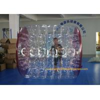 Wholesale Kids Human Hamster Clear Inflatable Body Rolling Ball In Aqua Park 2.4 * 2.2 * 1.6m from china suppliers