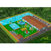Double Stitching Water Park Inflatable Pool Slide  For Teens Customized Color