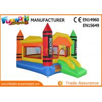 Wholesale 0.55mm PVC Tarpaulin Inflatable Combo With Slides For Kids SGS TUV from china suppliers