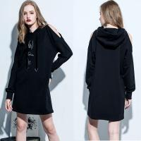 Wholesale Clothing Fashion Women Cold Shoulder Hoodie Dress from china suppliers