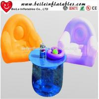 Wholesale Customized relax modern lights led plastic inflatable corner sofa from china suppliers