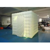 Quality 2.4x2.4x2.4m Small White Inflatable Party Cube Booth Tent With 2 Doors for sale