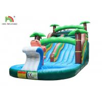 Wholesale 9*4*5 m Green Tree Family Inflatable Water Slide Kids Seaworld Backyard With Pool from china suppliers