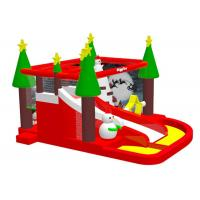 Wholesale Bouncer House Inflatable Xmas Decorations , Constant Air Blown Style Blow Up Santa from china suppliers