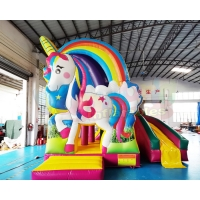 Wholesale Mini Unicorn Bouncy Castle Inflatable Bouncer Bounce House Combo from china suppliers