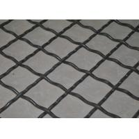 Mine Sieving Crimped Wire Mesh Carbon Steel For Quarry , High Tensile