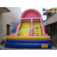 Wholesale Pink Commercial Inflatable Slide Toys , 9L Inflatable Slide Slip For Childrens from china suppliers