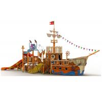 Wholesale Fiberglass Material Water Playground Equipment / FRP Pipe Pirate Ship Slide from china suppliers