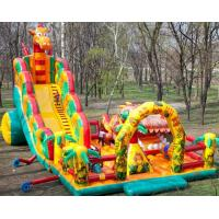 Outside Inflatable Theme Park With Slide , Inflatable Chilren Fun Land Games