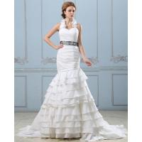 Wholesale Sexy Open back layered Wedding Dress with belt , drop waist womens wedding gowns from china suppliers