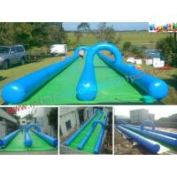 Wholesale Custom Double Lane Outdoor Adult Inflatable Water Slide For Play Center / Rental from china suppliers