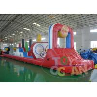 China Colorful Giant Inflatable Games / Extrior Inflatable Dry Slide Durable on sale
