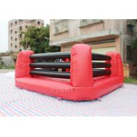 China Kids And Adults Inflatable Sports Games Boxing Ring 5 X 5 X 1.5 M Height on sale