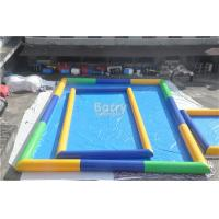 Wholesale Outside Rectangle Inflatable Swimming Pool / Blue Portable Blow Up Pool from china suppliers
