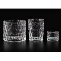 Wholesale Dimpled Cylindrical Clear set of 3 glass candle holders for Candle Making from china suppliers
