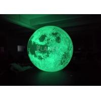 Quality Colorful Changing Large Inflatable Moon Ball 3m Dia Customized for sale