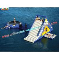 ODM Inflatable water trampoline with slide with durable 0.9MM PVC tarpaulin material