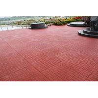 China Red Outdoor Rubber Mats Sound Absorbed Shockproof For Child Playground on sale