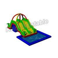China Large Inflatable Water Pool With Slide For Holiday Event / Carnival on sale