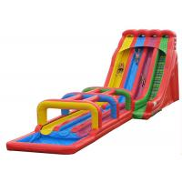 Quality Adults 4 Lanes Commercial Inflatable Water Slides Pool Slide With Long Slip Way for sale
