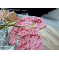 Wholesale Embroidered Pattern Luxury Bath Robes For Hotel / Home Jacquard Cotton Fabric from china suppliers
