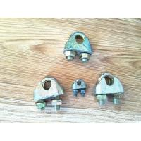 Wholesale Various Color Rigging Hardware / Wire Rope Clips Zinc Galvanized Surface from china suppliers