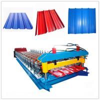 Full Automatic Color Glazed Tile Roll Forming Machine 33ksi - 50 Ksi Yield Stress