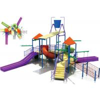 Wholesale OEM Fiberglass Water Park Construction , Kids Water Playground Equipment System from china suppliers