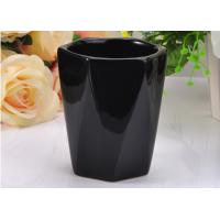 Wholesale Reusable Black Color Hexagon Ceramic Candle Holder For scented Candle from china suppliers