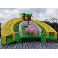 Wholesale Inflatable Water Park Bouncer Slide Combo Jurassic Park Tropical Jungle Giant Dinosaur from china suppliers